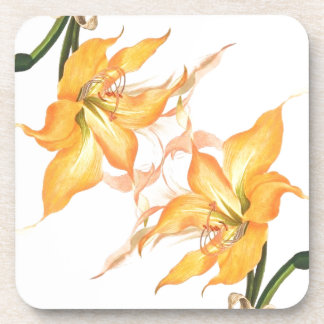 Vintage botanische Blumen-Blumengarten Untersetzer