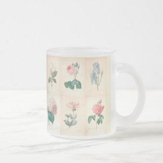 Vintage botanische Watercolor-Tasse Mattglastasse
