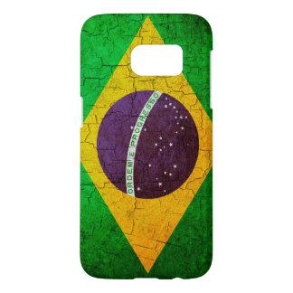 Vintage brasilianische Flagge auf einem