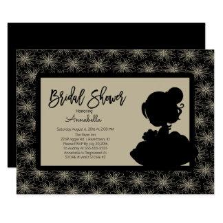 Vintage Braut-Brautparty-Einladung Karte