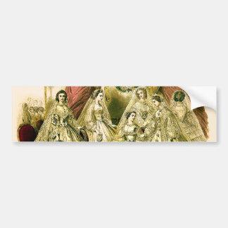 Vintage Brautbraut-Antiken-weiße Hochzeit Autoaufkleber