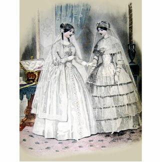 Vintage Brautbraut-Antiken-weiße Hochzeit Photo Figuren