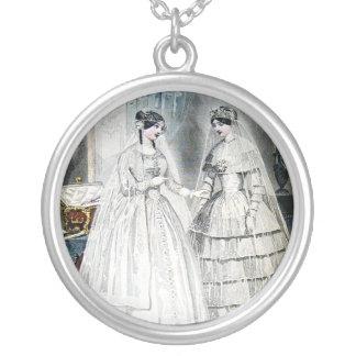 Vintage Brautbraut-Antiken-weiße Hochzeit Selbst Gestalteter Schmuck