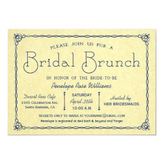 Vintage Brautbrunch-Brautparty-Einladungen 12,7 X 17,8 Cm Einladungskarte