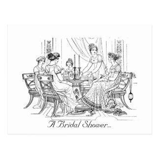 Vintage Brautparty-Einladung Postkarte