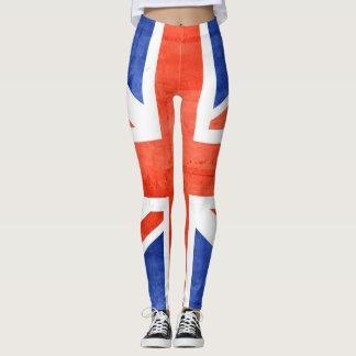 Vintage BRITISCHE Flagge #10 Leggings