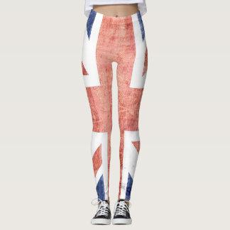 Vintage BRITISCHE Flagge #5 Leggings