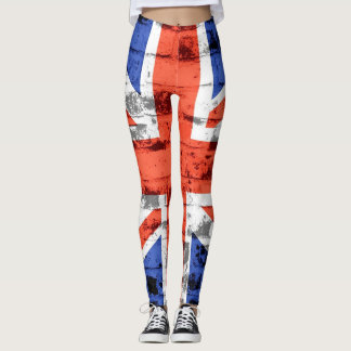 Vintage BRITISCHE Flagge #6 Leggings