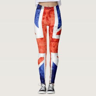 Vintage BRITISCHE Flagge #7 Leggings