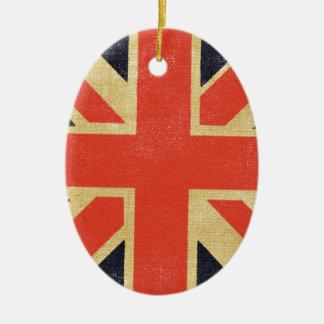 Vintage BRITISCHE Flagge Keramik Ornament