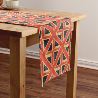 Vintage BRITISCHE Flagge Kurzer Tischläufer