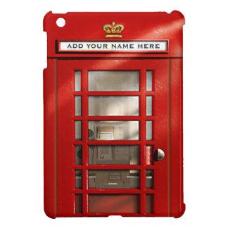Vintage britische rote Telefonzelle personalisiert iPad Mini Hüllen