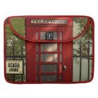 Vintage britische rote Telefonzelle Sleeve Für MacBooks