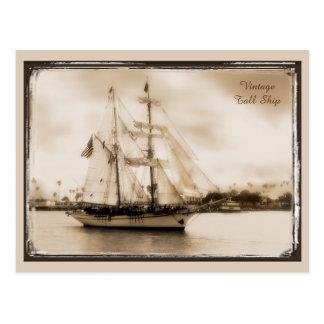 Vintage Brown-Getonte hohe Schiffs-Postkarte Postkarte