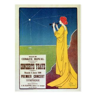 Vintage Brüssel-Anzeige Konzert der klassischen Postkarte