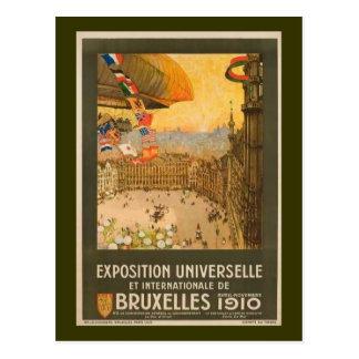 Vintage Brüssel-Ausstellung Postkarte