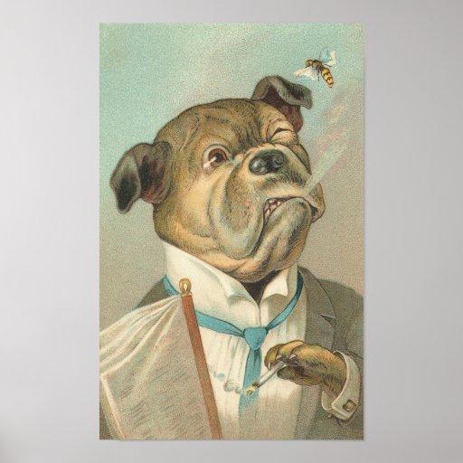 Vintage Bulldogge Plakate