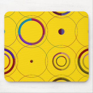 Vintage bunte Retro Pop-Kunst Mousepad