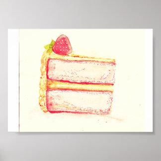 Vintage Cake Poster