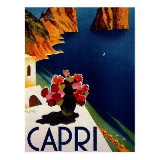 Vintage Capri Italien Reise Postkarte
