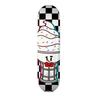Vintage Cartoon-Eiscreme-Kegelskateboard-Plattform Individuelles Deck