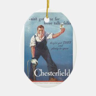 Vintage Chesterfield-Zigaretten-Werbung 1936 Keramik Ornament