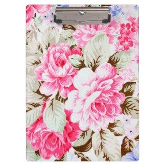 Vintage Chic-Rosa-Blumen mit Blumen