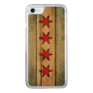 Vintage Chicago-Flagge beunruhigt Carved iPhone 8/7 Hülle