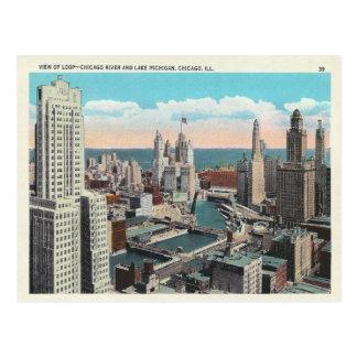 Vintage Chicago-Schleife Postkarte