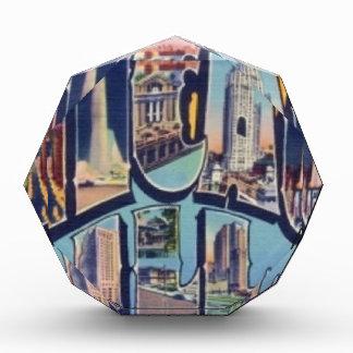 Vintage Chicago-Stadt Acryl Auszeichnung