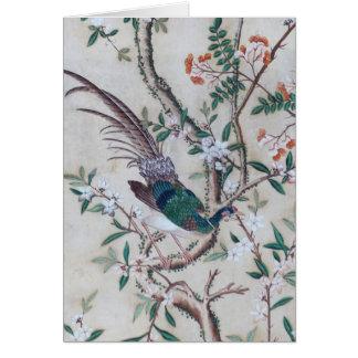 Vintage chinesische Tapetengrußkarte Karte