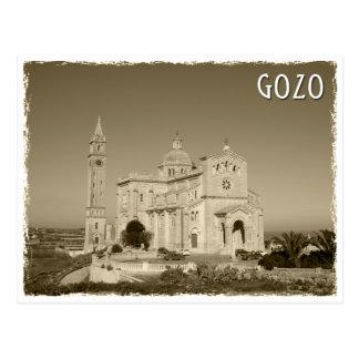 Vintage church at Gozo, Malta Postkarte