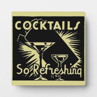 """Vintage Cocktails """"erneuern so """" Fotoplatte"""