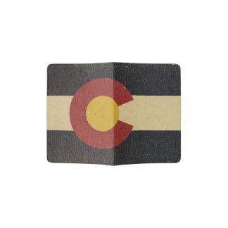 Vintage Colorado-Staats-Flagge Passhülle
