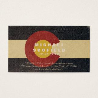 Vintage Colorado-Staats-Flagge Visitenkarte