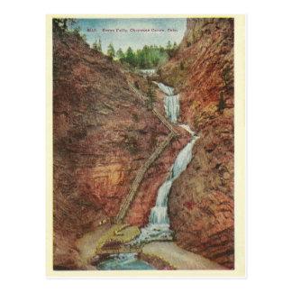 Vintage Colorado-Wasser-Fälle Postkarte