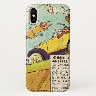 Vintage Comicen - zwei Bremssysteme erfordert iPhone X Hülle