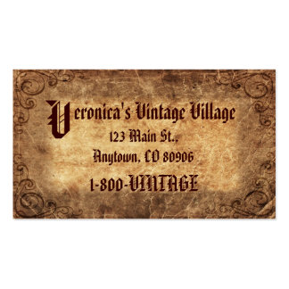 Vintage Company Visitenkarten