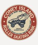 Vintage Coney-Insel-Rollen-Eisbahn Hemden
