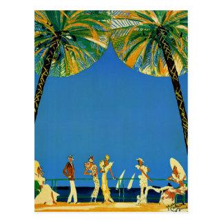 Vintage Cote d'Azur Franzose-Reise Postkarte