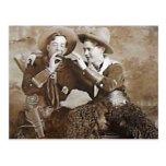 Vintage Cowboys 15 Postkarte