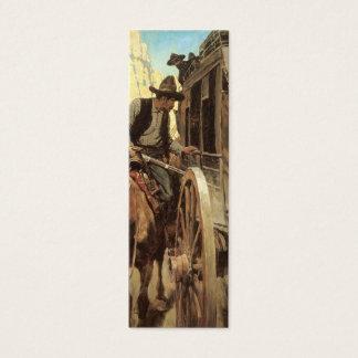 Vintage Cowboys, der bewundernswerte Geächtete Mini Visitenkarte