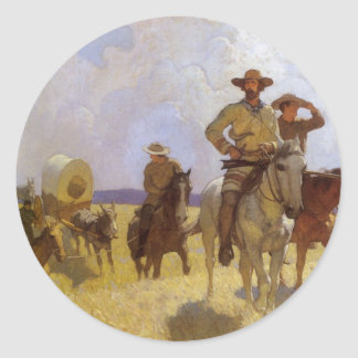 Vintage Cowboys, die Parkman Ausstattung durch NC Runder Aufkleber
