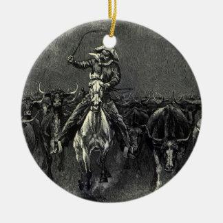 Vintage Cowboys, ein Ansturm durch Frederic Keramik Ornament