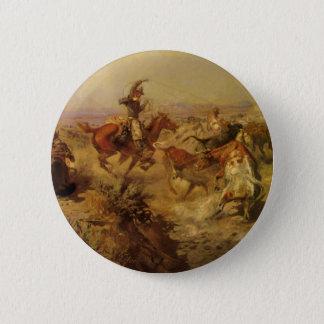 Vintage Cowboys, unten gestoßen durch cm Russell Runder Button 5,7 Cm