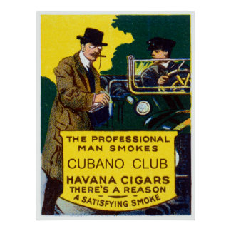 Vintage Cubano Verein-Zigarren Plakatdruck