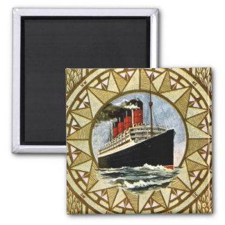 Vintage Cunard Linie Effektivwerts Berengaria Quadratischer Magnet