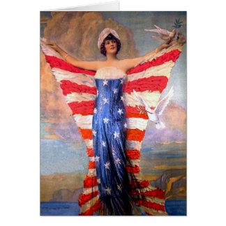 Vintage Dame der Freiheits-patriotischen Karte