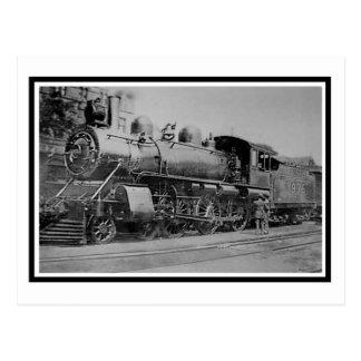 Vintage Dampf-Motor-Lokomotiveisenbahn Postkarte