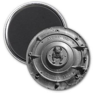 Vintage Dampf-Traktor-Front Runder Magnet 5,7 Cm